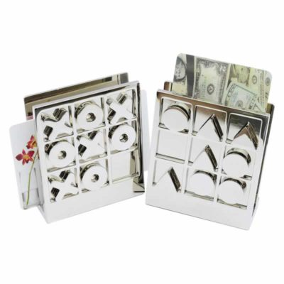 EG-168-AO Desktop Tic-Tac-Toe Card Holder