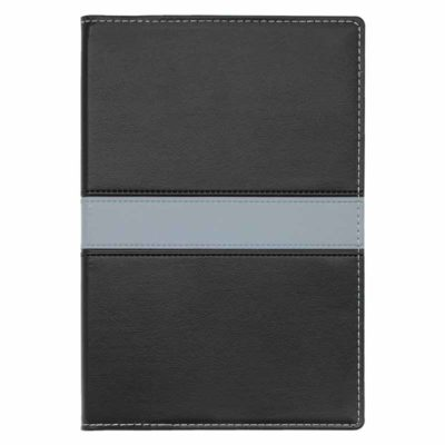 NB-109/110-GE PVC Executive Log Book/Notebook Grey Stripe cover