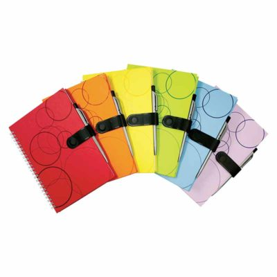 NB-135-W A5 Wire-O Colourful Notebook with Pen