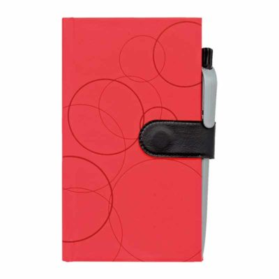 NB-136-H A6 Colourful Notebook Red cover