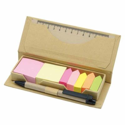 NS-163 Eco Friendly Sticky Note with Ruler & Pen in polybag