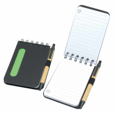 NS-164-MA Eco Friendly Notebook with Pen in polybag