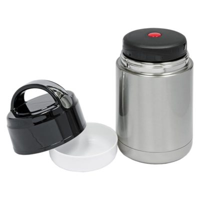 DW-165-EN Double Wall Stainless Steel Vacuum Food Container (800ml) open