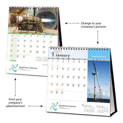 Pre-formatted Customised Calendar